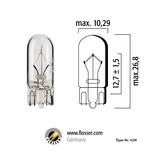 Glödlampa 5W T10 W2,1x9,5D