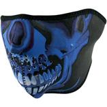 Zan Headgear halvmask Blue Chrome Skull